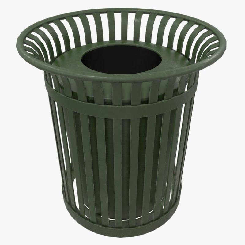 outdoor trash 3d max