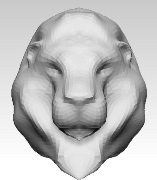 lion head base mesh 3d model