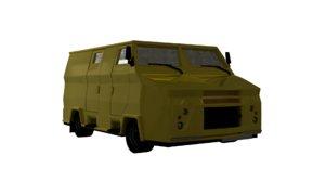 3d camion blindado model