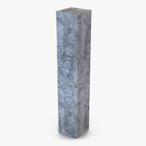 concrete pillar 3d model