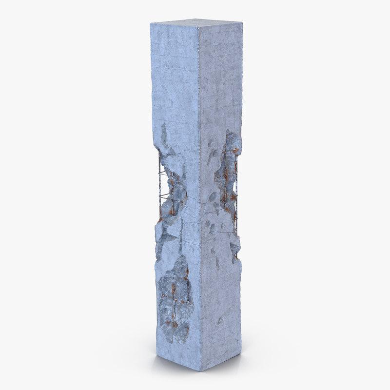 max concrete pillar damaged 2