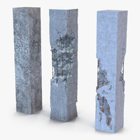 Concrete Pillars Set