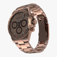 3d model rolex daytona pink gold