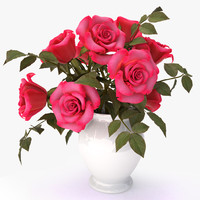3d max roses pink bouquet