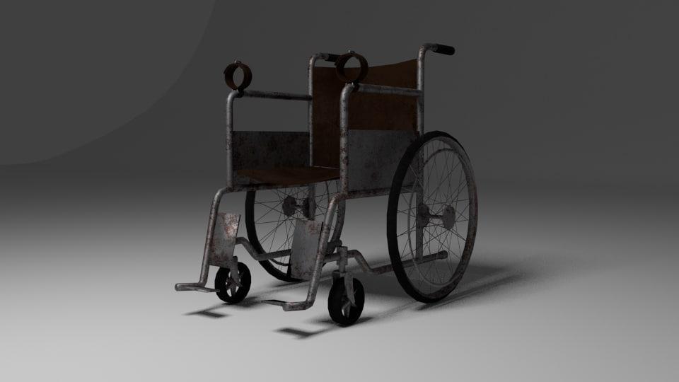 3d model chair hospital