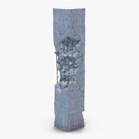 Concrete Pillar Damaged 3D Model