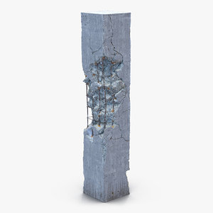 concrete pillar damaged max