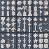 elements decorative acanthus obj