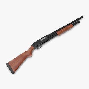 shotgun mossberg 500 wooden fbx