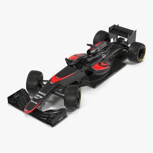 formula car rigged 3d model