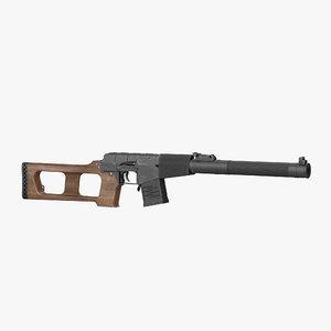 russian rifle vss vintorez 3d model