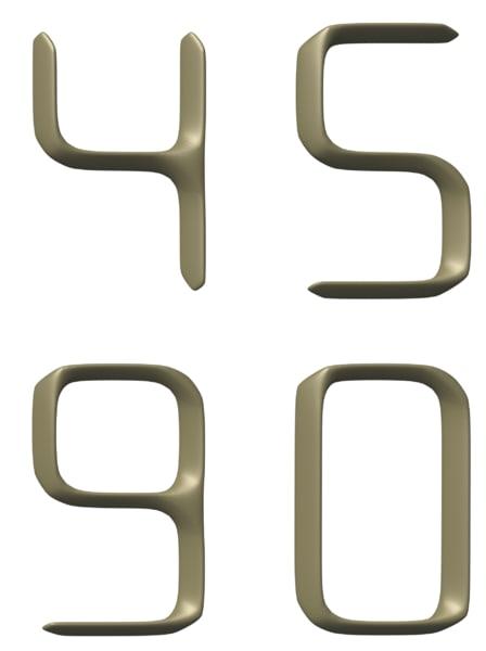 3d model number 1960s 60