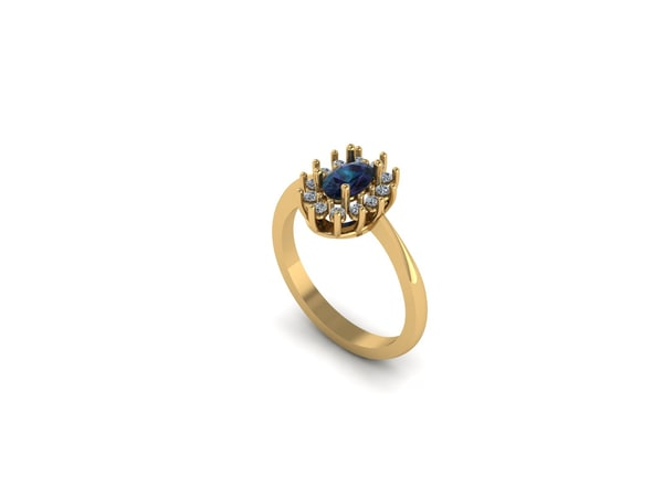 cluster ring 6x4 3ds