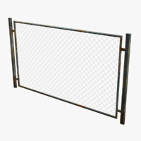 3d model metal fence rabitz