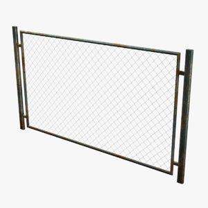 3d model metal fence rabitz