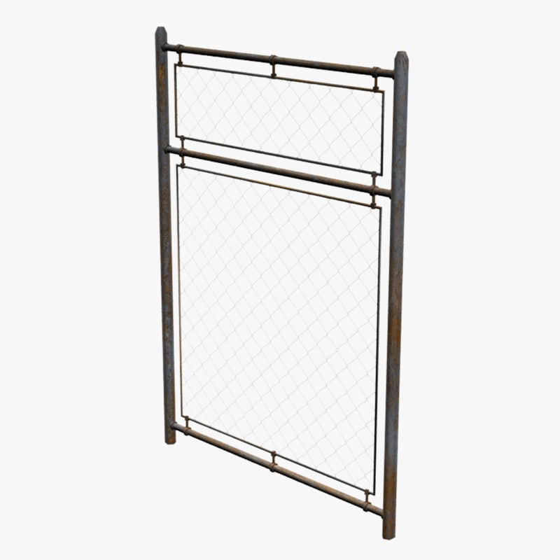 metal fence 3d 3ds