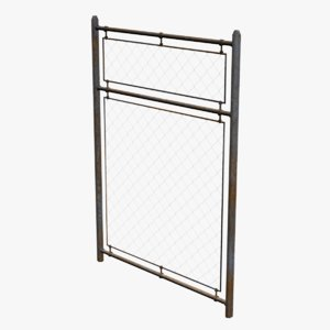 metal fence 3d 3ds