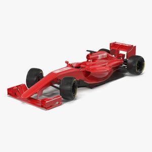 formula car rigged generic 3d max