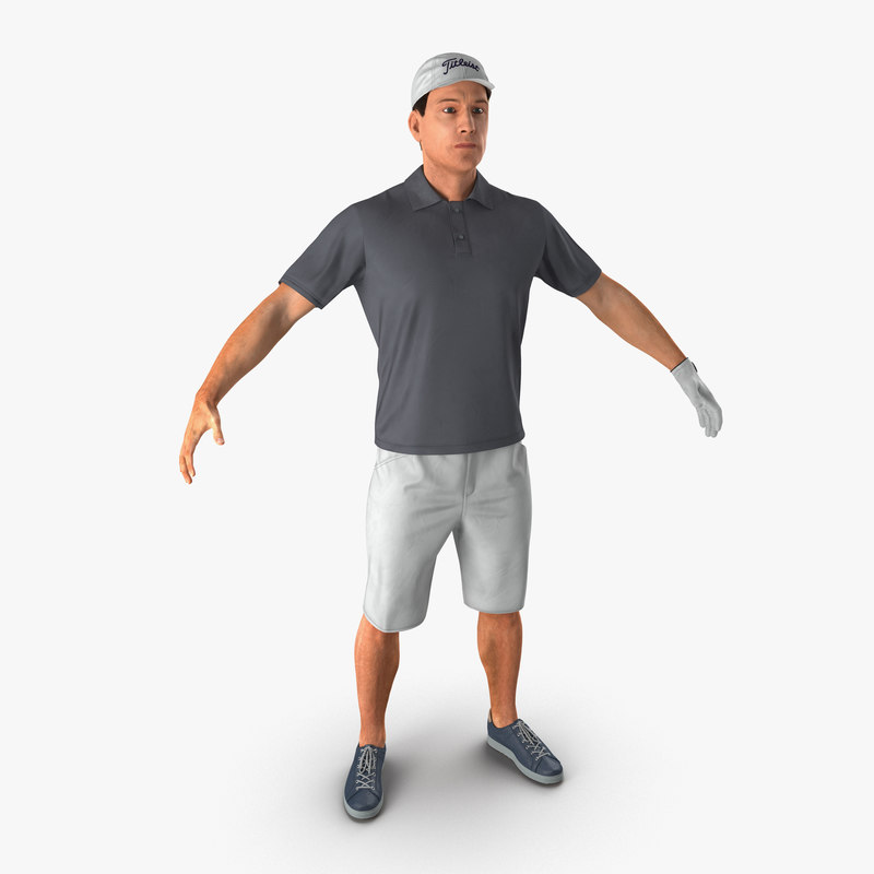 golf player 2 fur 3d model