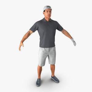 golf player 2 fur 3d model