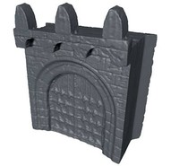 castle gate 3d obj