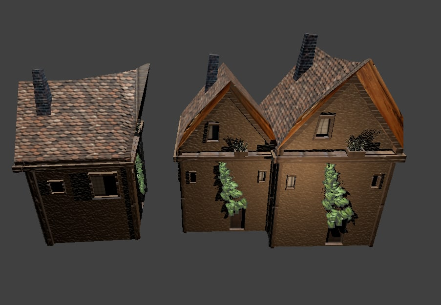 house small medieval decorations 3d fbx