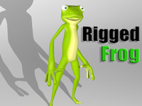 3d max cartoon frog character skin