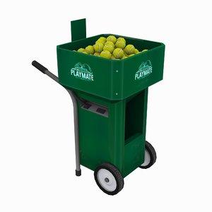 3d model tennis ball machine