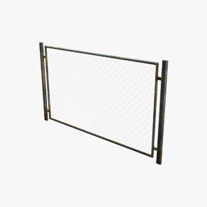 metal fence broken rabitz 3d model