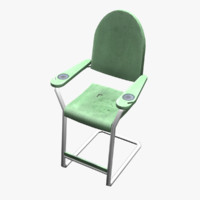 3d model of chair billiard