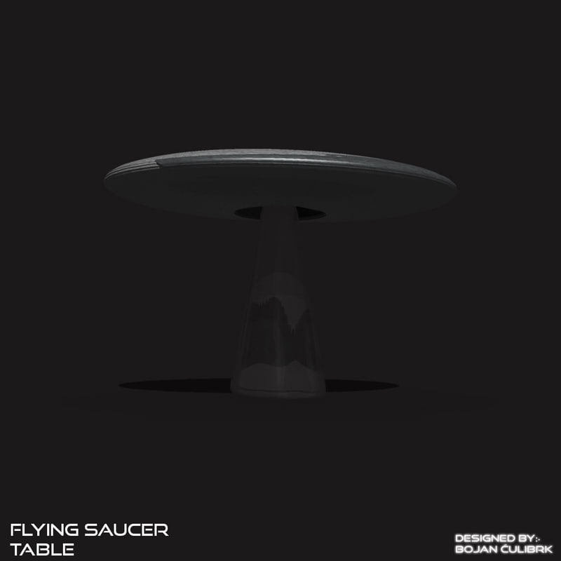 3d model of flying saucer table