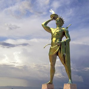 ancient colossus rhodes 3d max