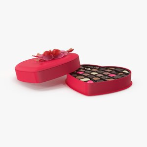 open box chocolates lid 3d max