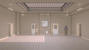 school interior 3d model