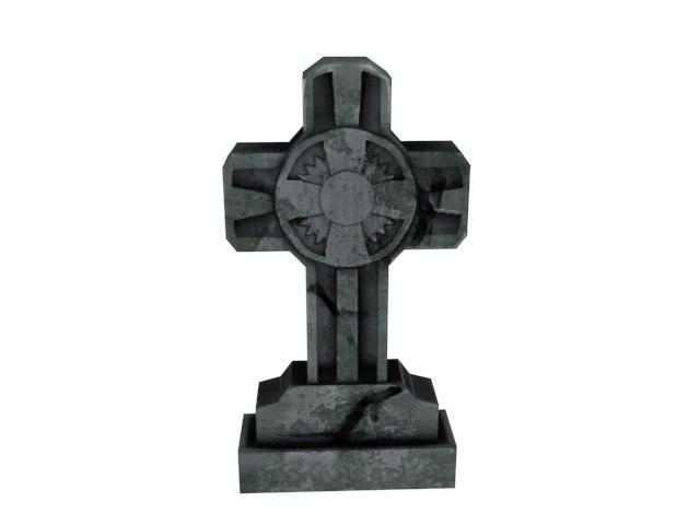 tombstone tomb stone 3d model