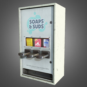 3d laundromat soap dispenser -