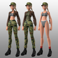 MBE02+ Army Girl V2 Type 1