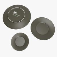 porcelain plate 3d max