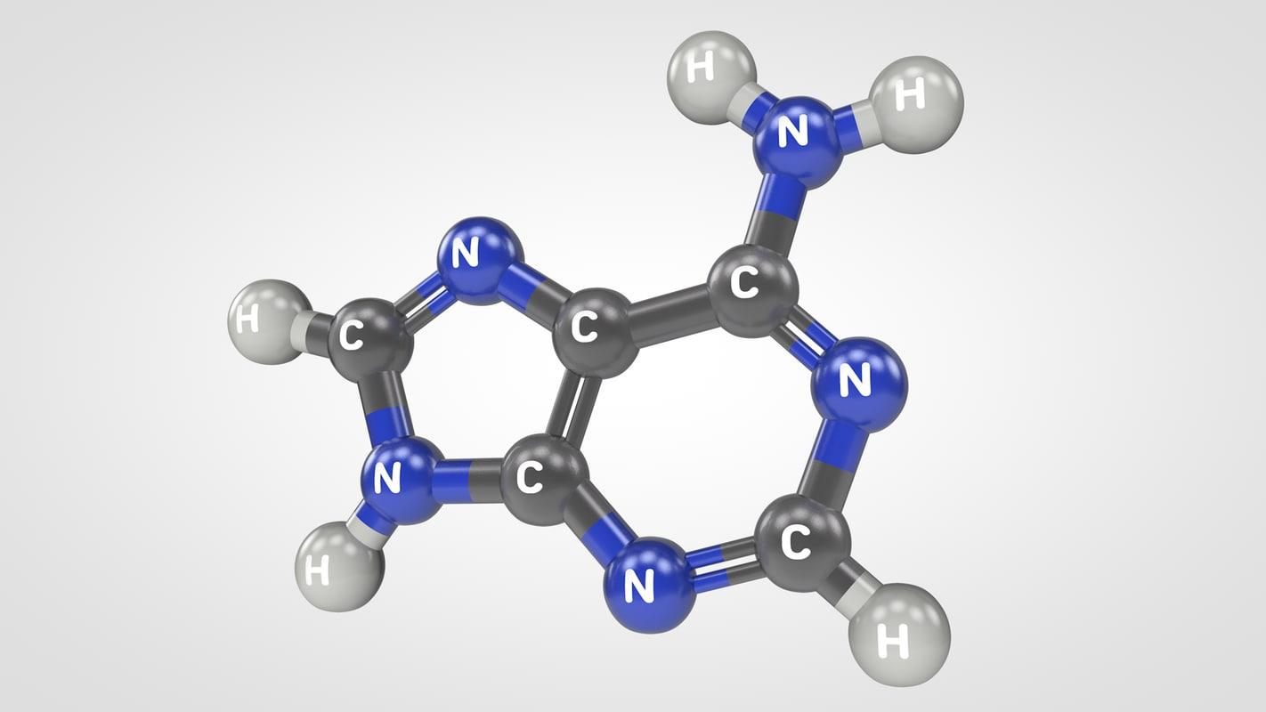 3d adenine molecule