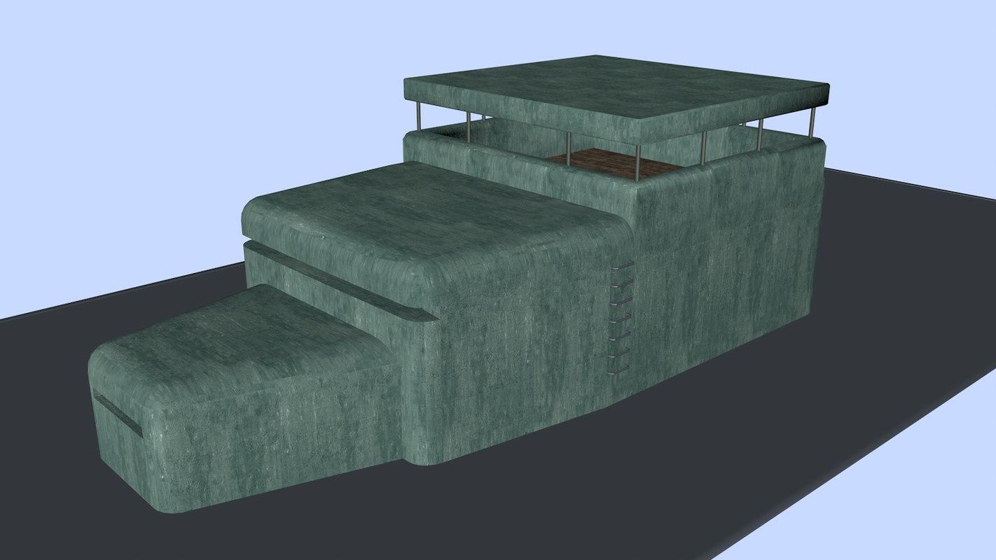 bunker 3d c4d