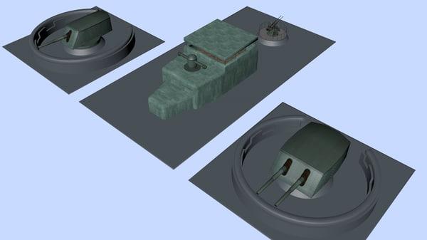 gun emplacement 3d model