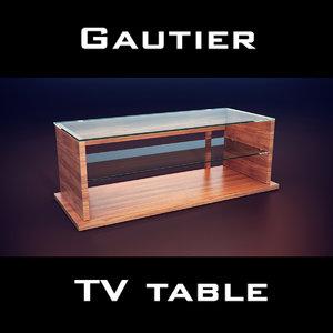 gautier neos tv unit 3d max