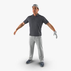 3d golf player fur
