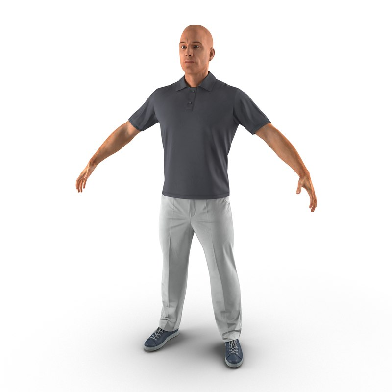 man casual style 3d model