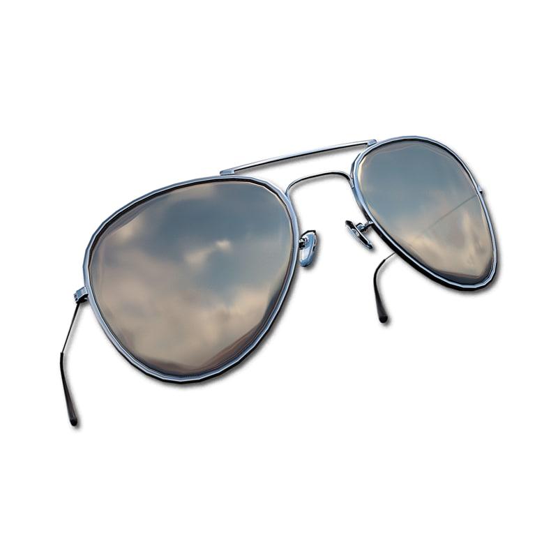 aviators metallic glasses 3d 3ds