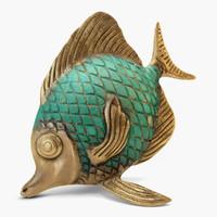 Fish statuette