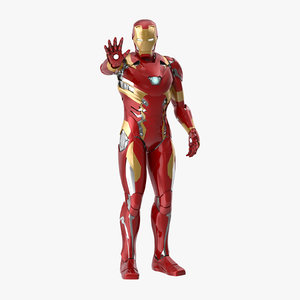 3d iron man mark 46 model
