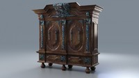 antique wardrobe 3d max
