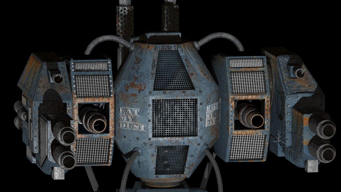 robot mech warrior 3d model