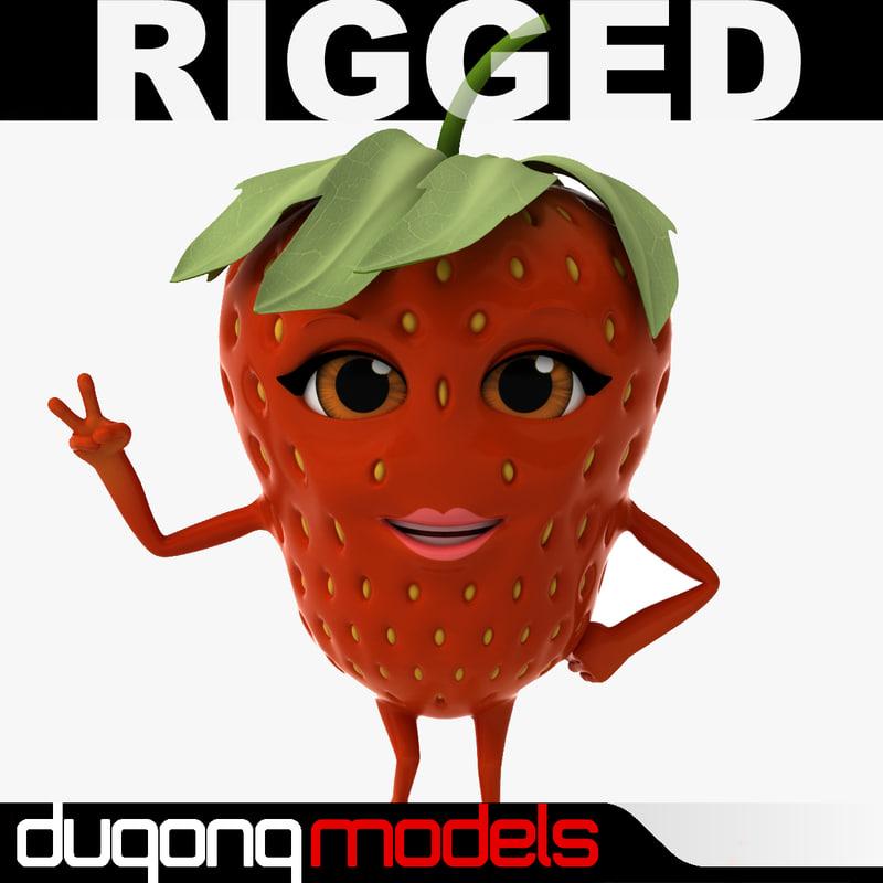 dugm07 rigged cartoon 3d model